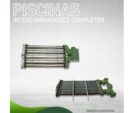 1241-018 Intercambiador Completo para Piscinas para AFJ 910 Masstercal Industrias Mass