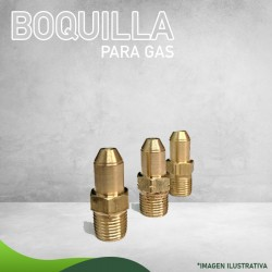 13N-2524 BOQUILLA P/GAS NATURAL NIVEL NORMAL CALENTADOR QUEMADOR CILÍNDRICO  Masstercal Industrias Mass