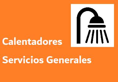 Calentadores SERVICIOS GENERALES