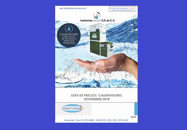 Listas Calentadores y Tratamiento de Agua